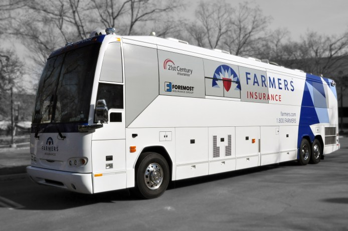 Farmers Catastrophe response buses