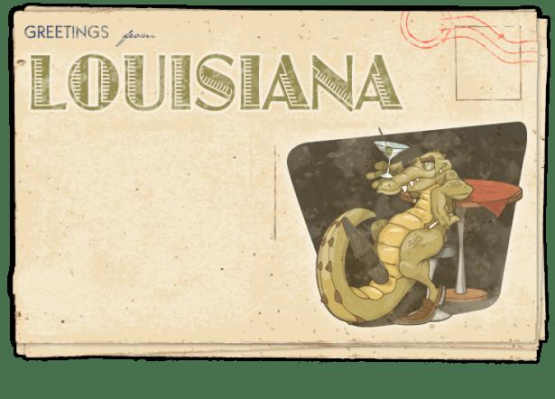 Postcard – Louisiana
