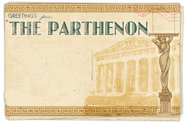 Postcard – The Parthenon (in Georgia)