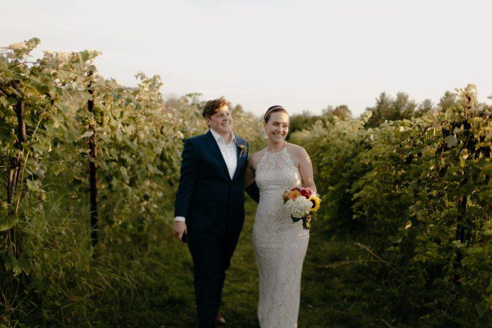 lesbian wedding photographer shelburne vineyard elopement