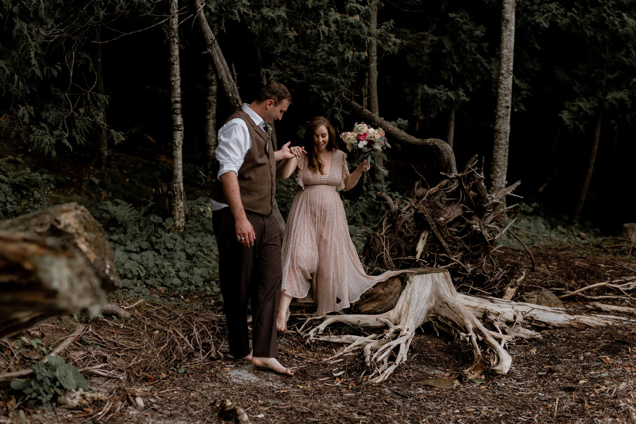 Intimate Lake Willoughby Vermont Elopement - Katie Jean Photography