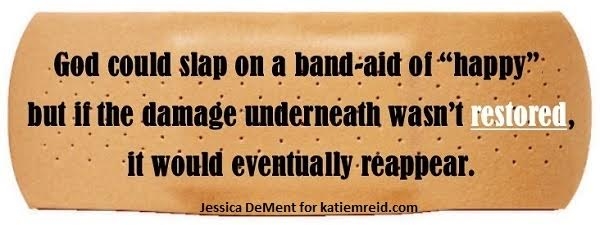 Restoration band-aid by Jessica for Katie M. Reid