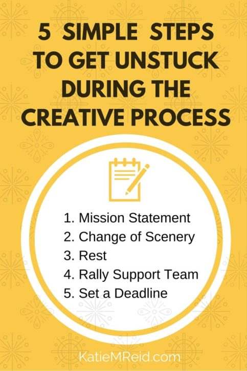 5 SImple Steps to Get Unstuck during the Creative Process by Katie M. Reid