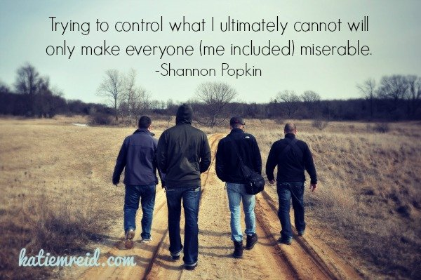 Control makes us miserable quote by Shannon Popkin