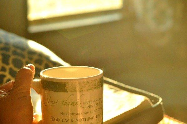 Sunny mug at daybreak by Katie M. Reid