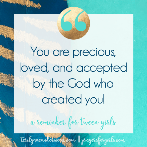 You are precious, loved and accepted by the God who created you by Teri Lynne Underwood for katiemreid.com