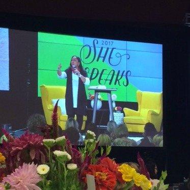Chrystal Evans Hurst speaking at She Speaks Conference 2017