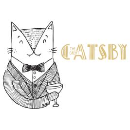 The Great Gatsby cat pun illustration