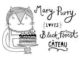 Mary Berry Great British Bake Off cat pun illustration