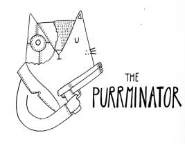 The Terminator cat pun illustration