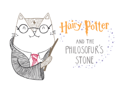 Harry Potter and the Philosophers stone cat pun illustration