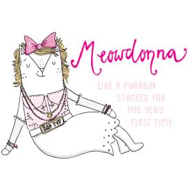 Madonna Like A Virgin cat pun illustration