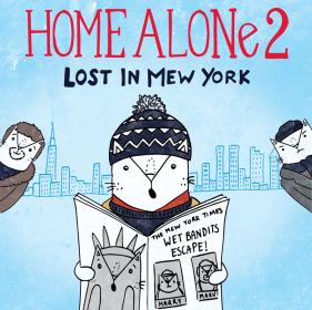Home Alone 2 cat pun illustration