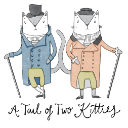 tale of two cities cat pun illustration