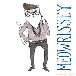 morrissey cat pun illustration