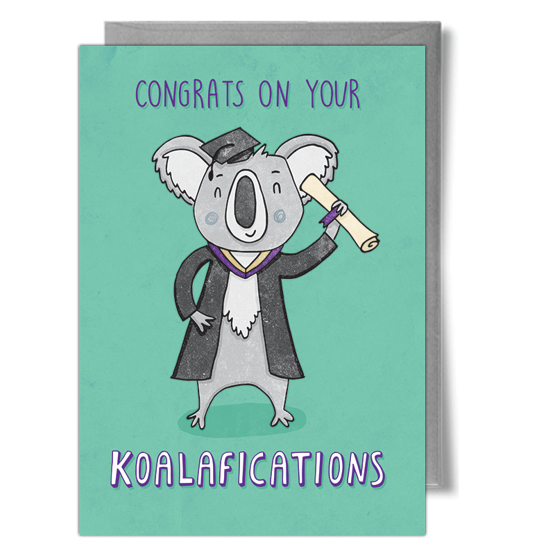koala qualification koalification greeting card