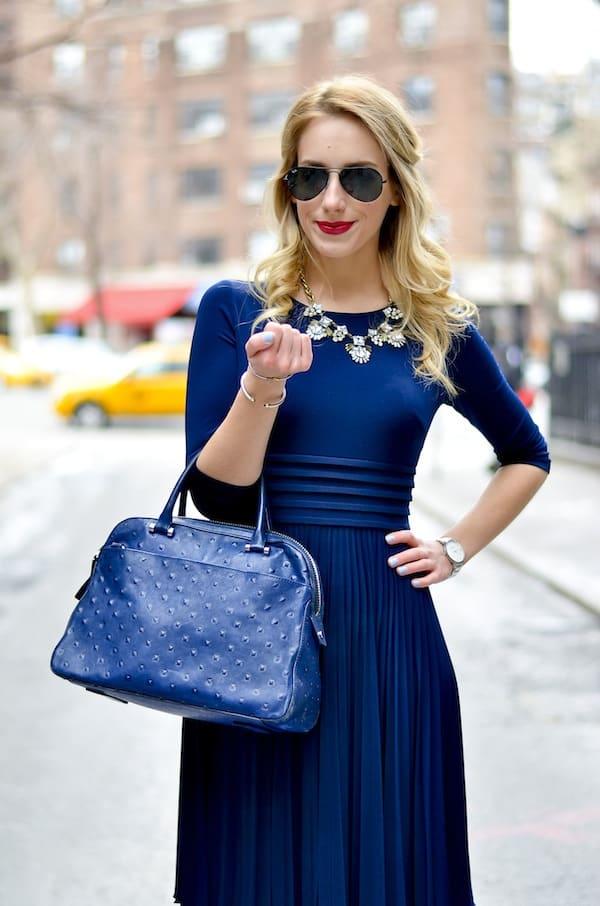 Royal Blue Jersey Dress  Katies Bliss