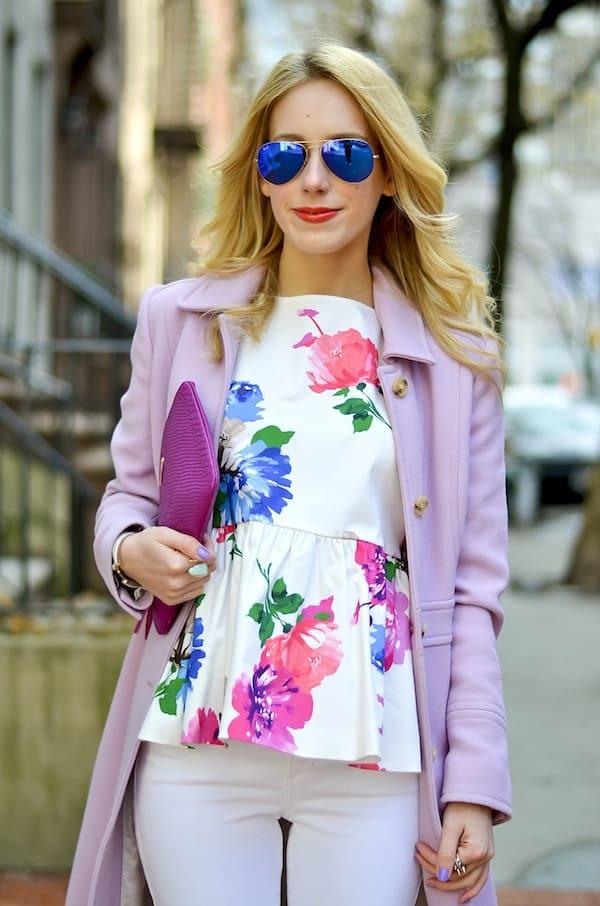 Kate Spade Floral Peplum Top  Katies Bliss
