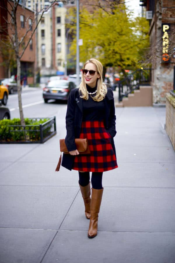 Preppy Plaid Holiday Outfit Katies Bliss