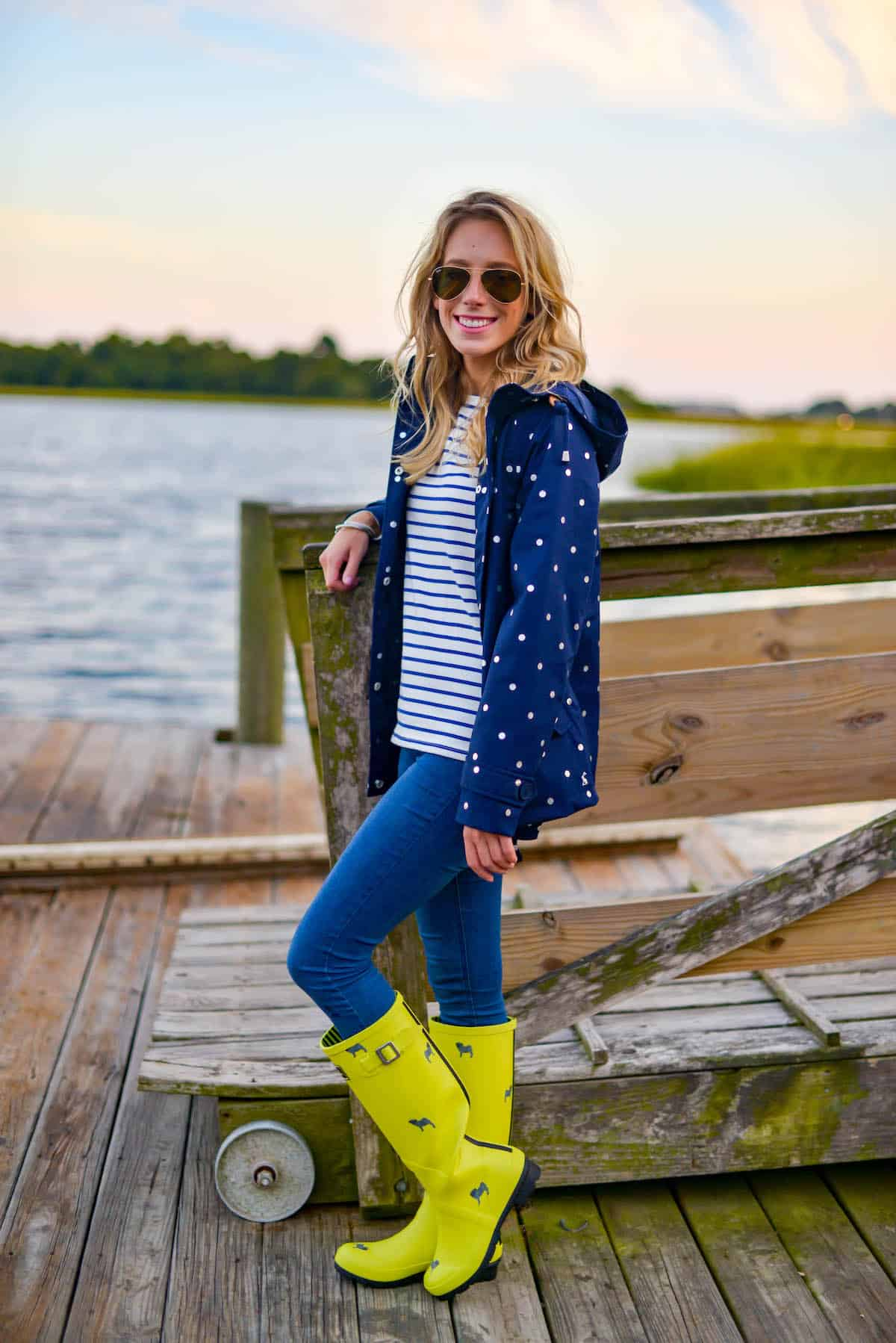 Wearing Joules At The Dock Katies Bliss