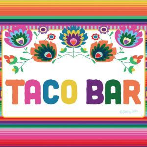 Taco Bar Theme Menu