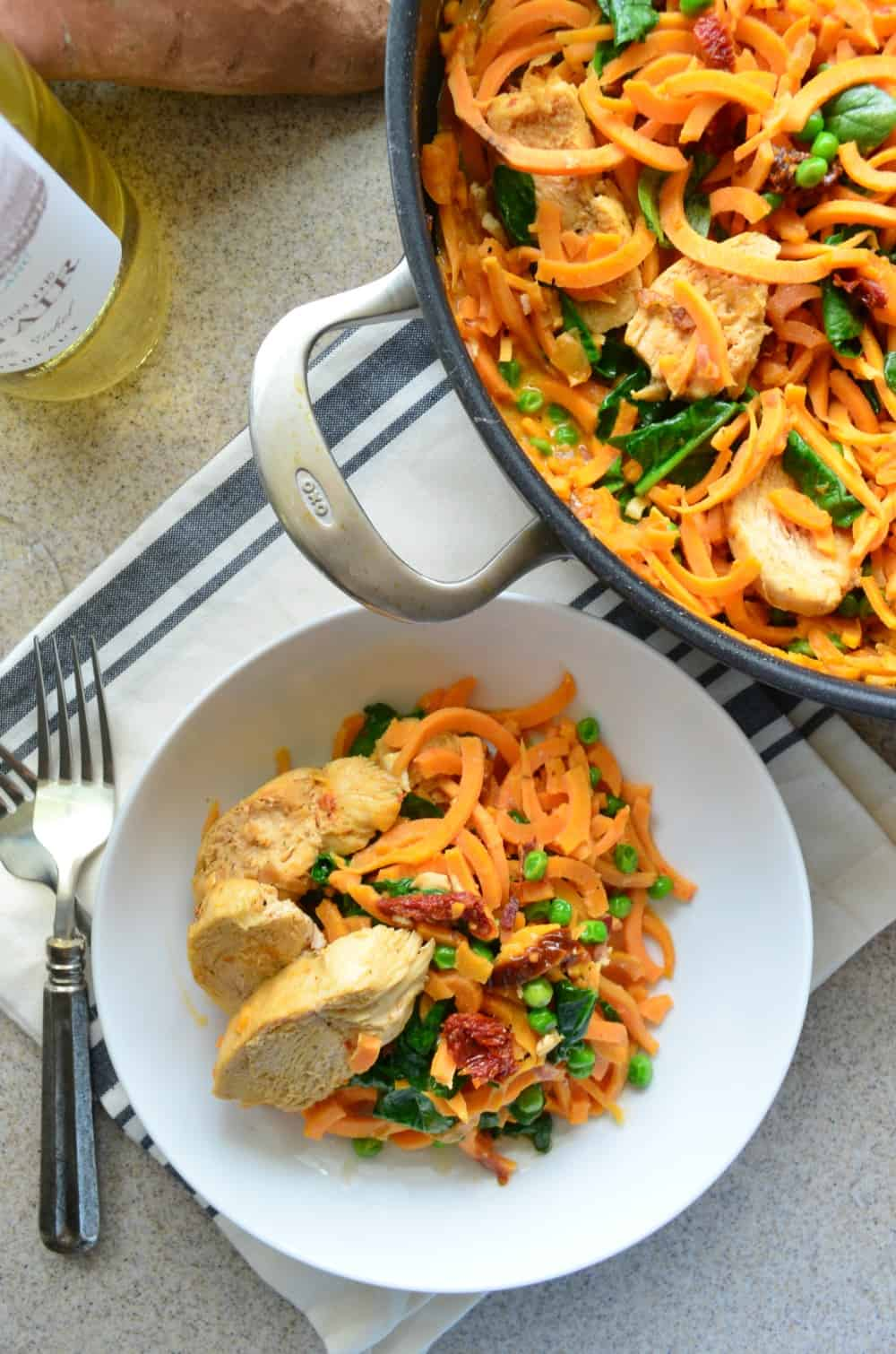 Creamy Sundried Tomato Sweet Potato Noodles and Chicken  Katies Cucina