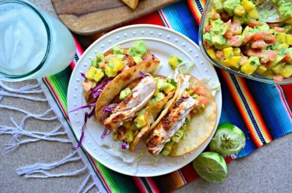 MahiMahi Fish Tacos with Mango and Avocado Salsa  Katie