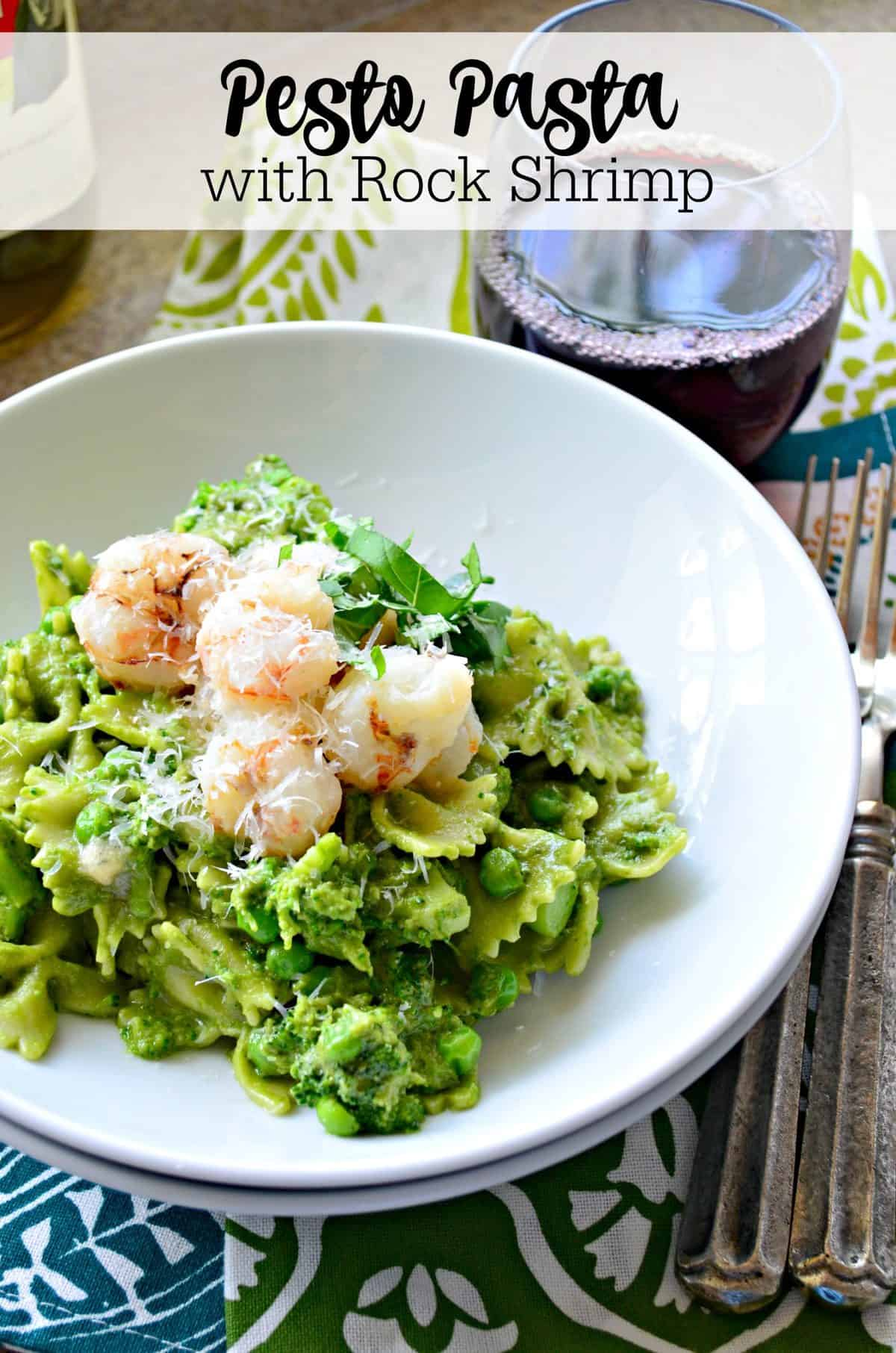 Pesto Pasta with Rock Shrimp  Katies Cucina