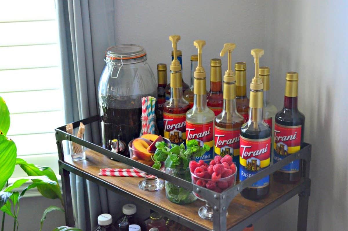 How to Create an Iced Tea Bar with Torani Fruit Syrups  Katies Cucina