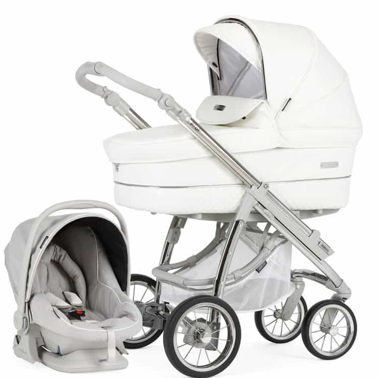 Bebecar Pack Ip Op Classic XL Pram Combination Travel System – White Delight