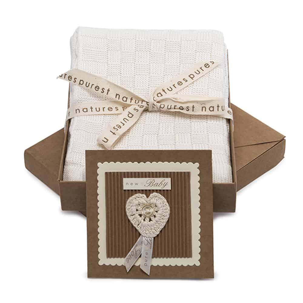 Natures Purest Bamboo Greeting Blanket & Card Gift Set