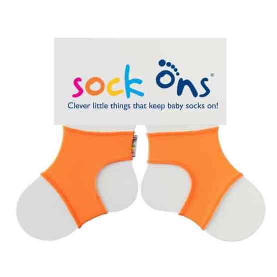 Sock Ons Orange (0-6 Months)