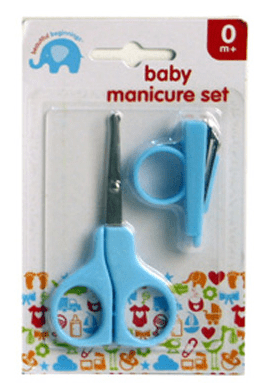 Baby 2 Piece Manicure Set Blue