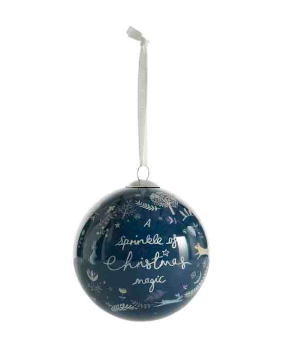Mamas & Papas Christmas Bauble Navy- A Sprinkle Of Christmas Magic