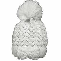 SHEL White Bow Bobble Hat