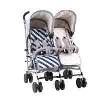 MB Twin Stroller Grey Chevron