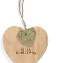 MP 1st Chrsitmas Wooden Heart