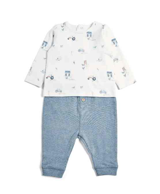 Mamas & Papas Printed Farm Top & Trousers Set