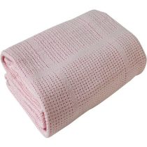 CDL Cellular Blanket Pink