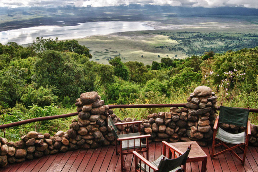 Great View of Ngorongoro From The Lodge