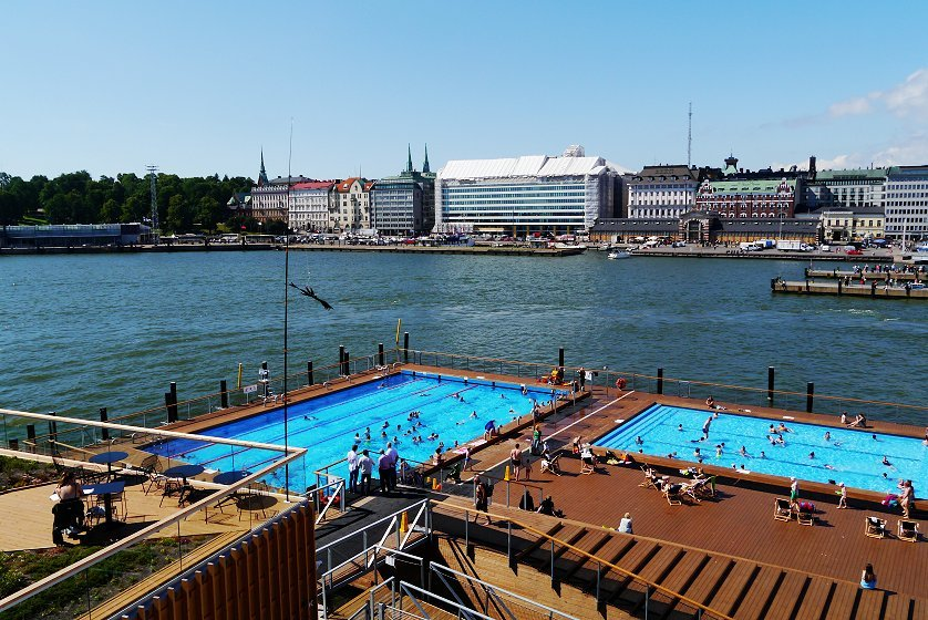 finnish sauna allas sea pool