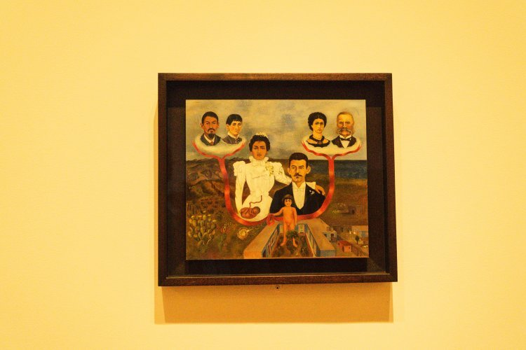 Image of Frida Kahlo family portrait painting in the Museum of Modern Art New York