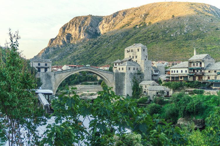 Stari Grad bridge in Mostar, Bosnia