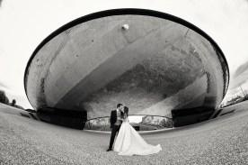 Reportaje de boda blanco y negro