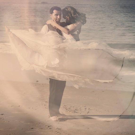 Fotgrafía de boda en la playa de la Concha (Donostia)