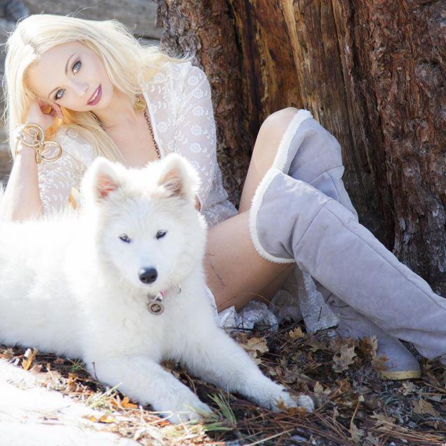 Where the wild things grow... SnowQueen WhiteWolf Samoyed @annikasamoyed
