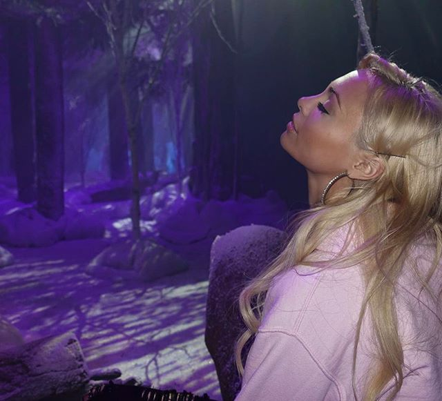 Just tryna tan.... inside a fake winter forest... ️