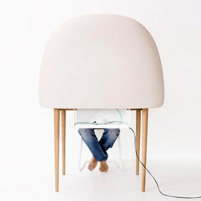 pod desk to eliminate distractions