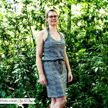tamarillo top kleed jurk rianne dress lmv la maison victor cherrydesigns halter haltertop hack patternhack katrienette