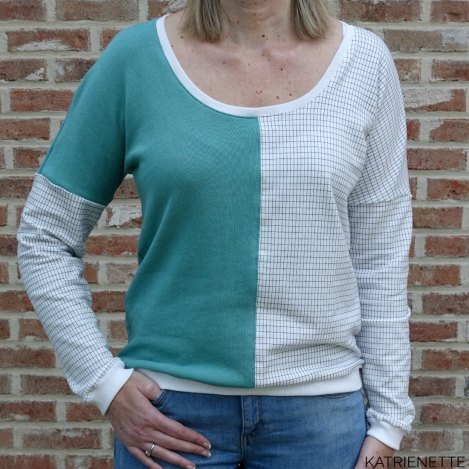 tweekleurig tweekleurige french terry sweater summer trui color blocking see you at sixSYAS grill playtime chat chocolat chatchocolat circle around solid just another tee JAT katrienette